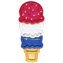 Red White And Blue Ice Cream Applique