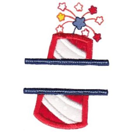 Split Applique Firecracker