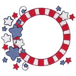Stars And Stripes Monogram Frame