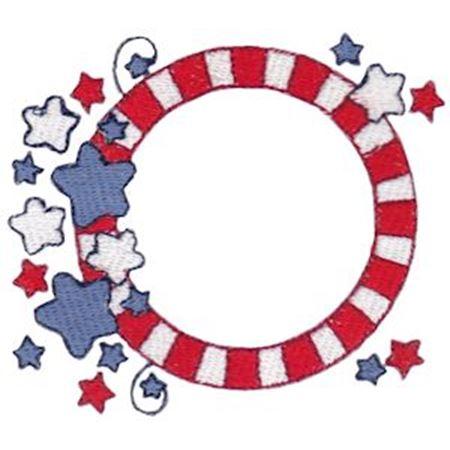 Stars And Stripes Monogram Frame