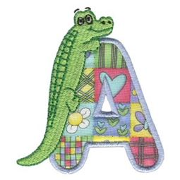 Animal Alphabet Applique A