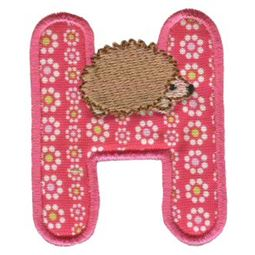 Animal Alphabet Applique h