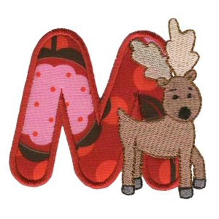 Animal Alphabet Applique m