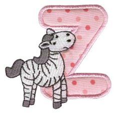 Animal Alphabet Applique z
