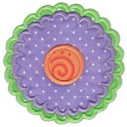 Applique Round Flower