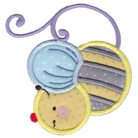 Bumble Bee Teapot Applique