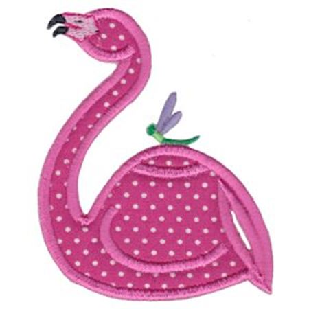Flamingo Teapot Applique