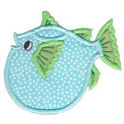 Puffer Fish Teapot Applique