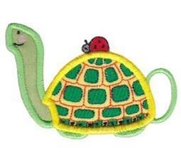 Turtle Teapot Applique
