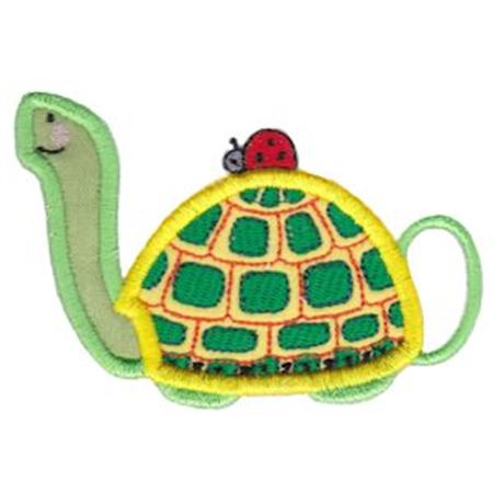 Turtle Teapot Applique