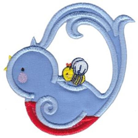 Bluebird Teapot Applique