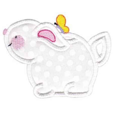 Bunny Teapot Applique