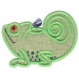 Chameleon Teapot Applique