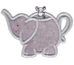 Elephant Teapot Applique