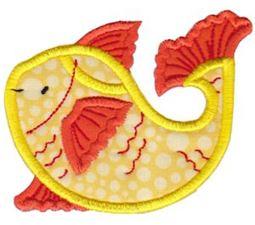 Goldfish Teapot Applique