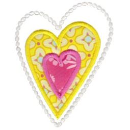 Applique Hearts 3