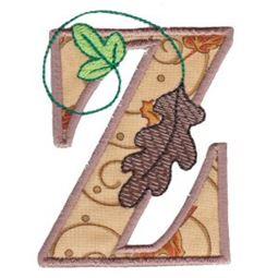 Autumn Alphabet Z