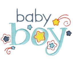 Baby Boy With Stars