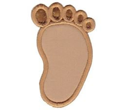 Applique Baby Foot