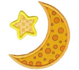 Applique Star And Moon