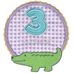 Baby Months Applique 3