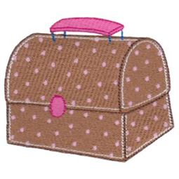 Brown Polka Dot Lunch Box