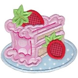 Strawberry Cake Applique