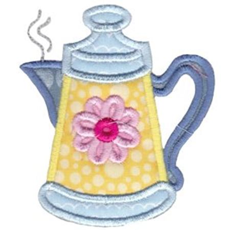 Tea Pot Applique