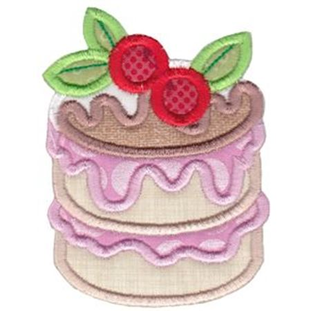 Decorated Cake Applique