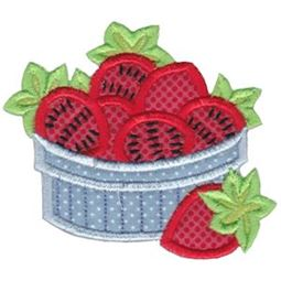 Bowl of Strawberries Applique