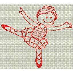 Ballet Redwork 10