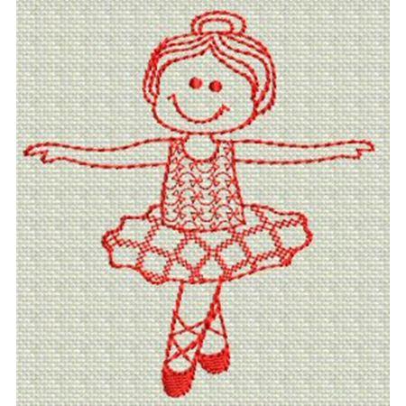 Ballet Redwork 2