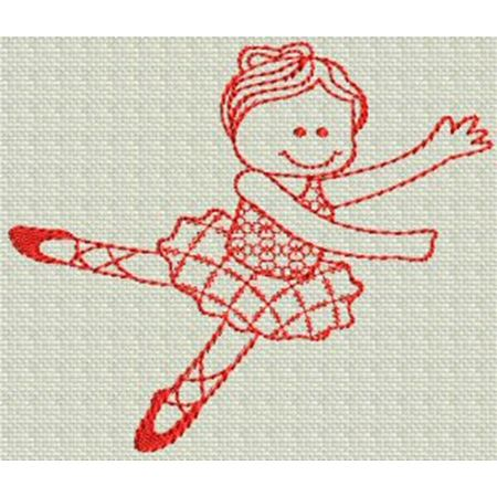 Ballet Redwork 3