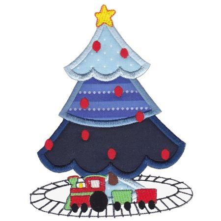 Boys Christmas Tree Applique