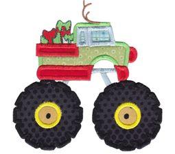 Christmas Monster Truck Applique