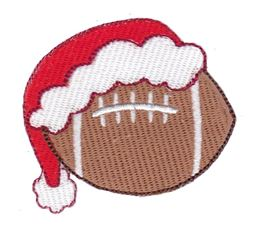 Football With Santa Hat Filled Stitch
