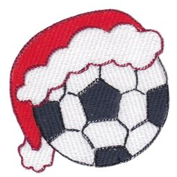 Soccer Ball With Santa Hat Filled Stitch