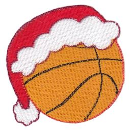 Basketball With Santa Hat Filled Stitch