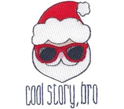 Santa Cool Story Bro Filled Stitch