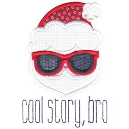 Santa Cool Story Bro Applique