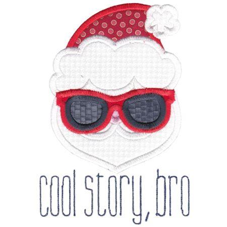 Santa Cool Story Bro Applique