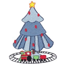 Boys Christmas Tree Filled Stitch