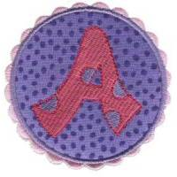 Button Applique Alphabet