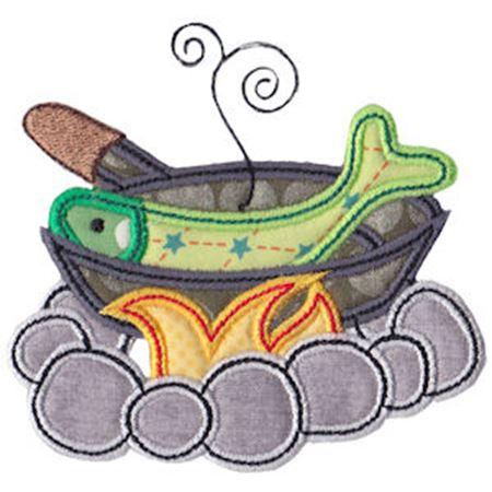 Cooking Fish Applique