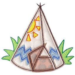 Indian Teepee Applique