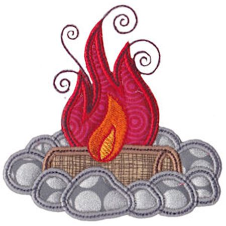 Wood Fire Applique