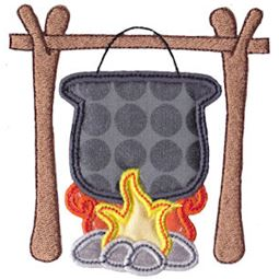 Cooking On Camp Fire Applique