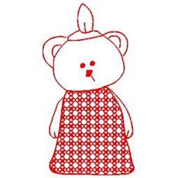 Carnival Bears Redwork 1