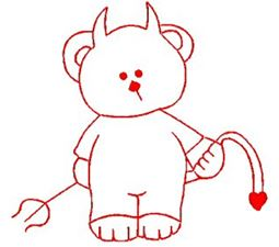 Carnival Bears Redwork 4