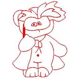 Carnival Bears Redwork 6